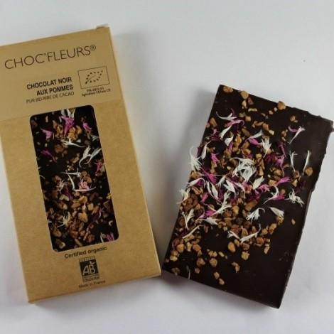 Tablette de chocolat noir aux pommes