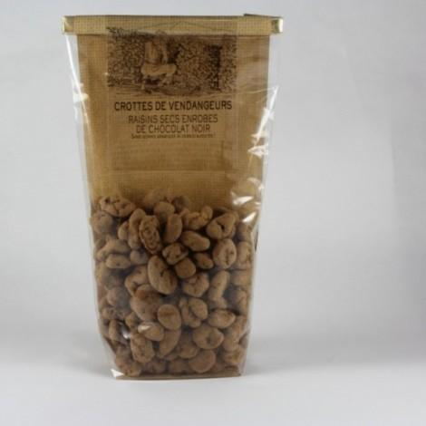 Crottes de vendangeurs raisins secs enrobes de chocolat noir