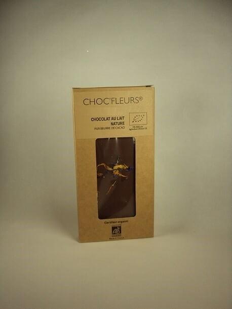 Tablette de chocolat au lait nature