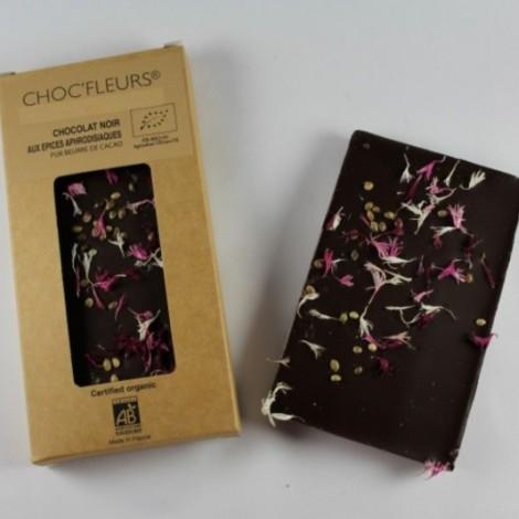 Tablette de chocolat noir aux epices aphrodisiaques
