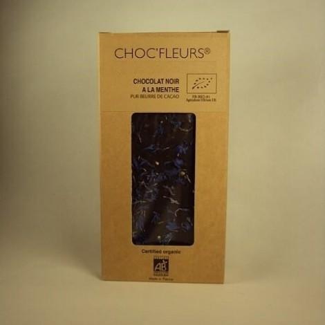 Tablette de chocolat noir a la menthe