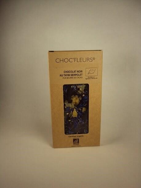 Tablette de chocolat noir au thym serpolet