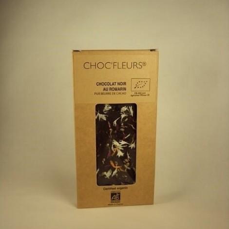 Tablette de chocolat noir au romarin