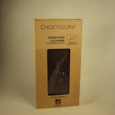 Tablette de chocolat noir a lavande