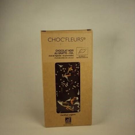 Tablette de chocolat noir au gratte-cul (fruit de l'glantier)