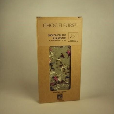 Tablette de chocolat blanc a la menthe