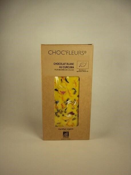 Tablette de chocolat blanc au curcuma