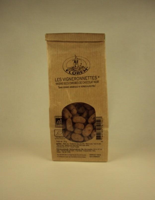 Les vigneronnettes raisins secs enrobes de chocolat noir au gingembre