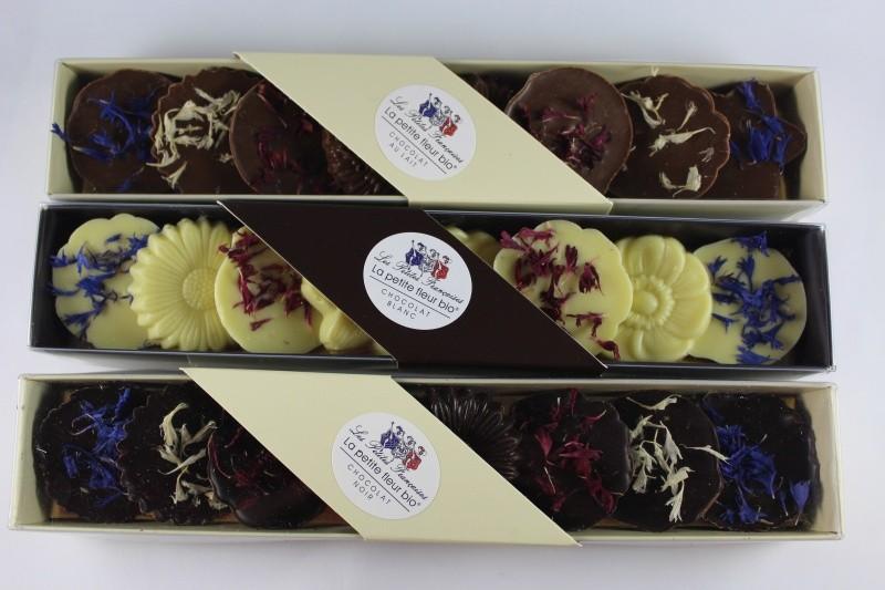 La petite fleur bio - les petites francaises - chocolat noir 71.5%